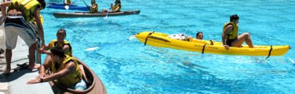 Kayaking at the Pool!